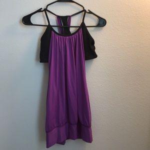Lululemon purple and black tank top 6